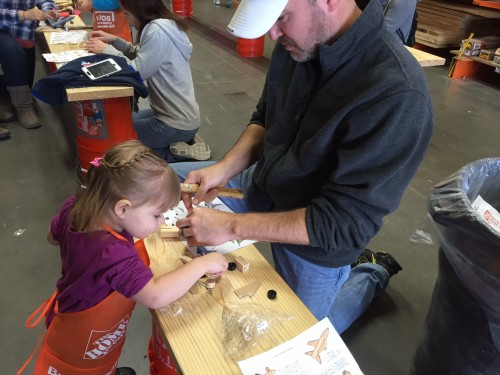 Daddy Daughter Date at Home Depot