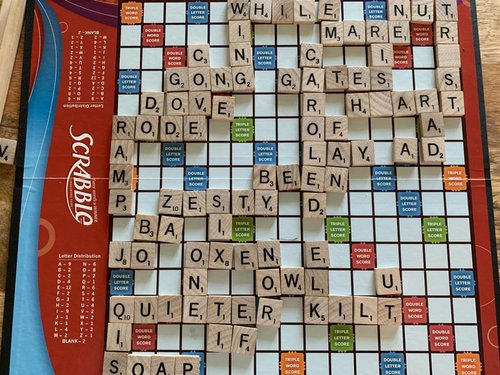 Scrabble Board Game What To Do Instead of Watching TV at Night