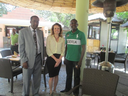 Peter Idoko from the Hilton Addis Ababa (he is wearing the green shirt)