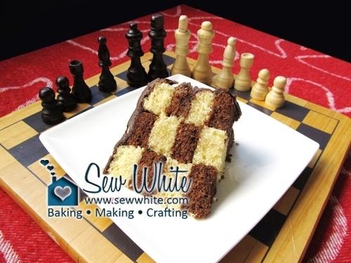 Secret Design Chess Cake chocolate and vanilla cake chess cake
