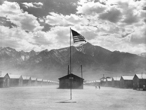 Manzanar Relocation Center, Manzanar, California - Photo by Dorothea Lange. Printed by Seth Dickerman