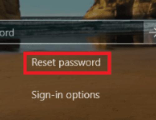 Enabling password reset on the Windows 10 logon screen