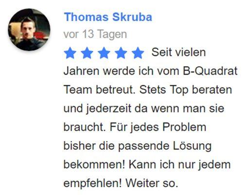 Grenzgänger - Versicherung & Service | Kundenbewertung von Thomas Skruba