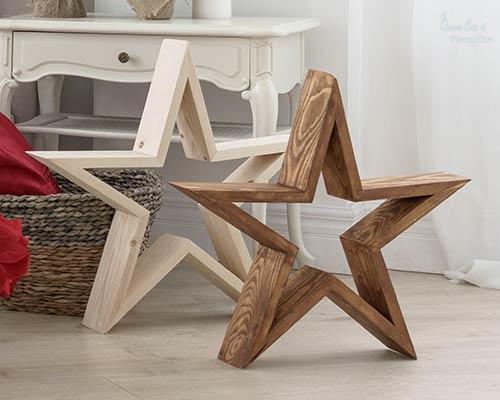large wood stars