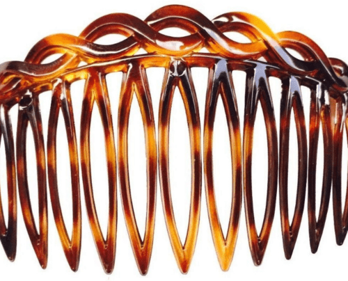 hair accessory Parcelona French Open Curved Celluloid Shell Side Hair Combs
