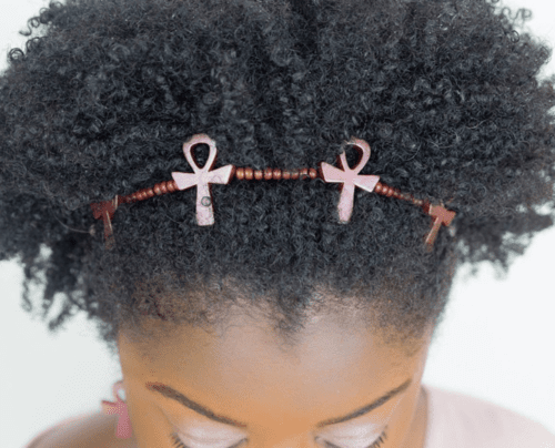 natural hair accessories - ankh headband