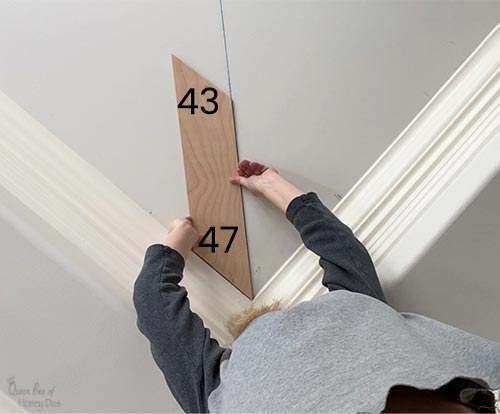 finding angles for planked ceiling