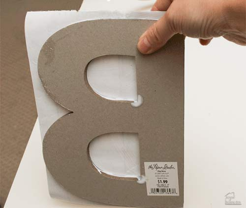attaching paper to letter art