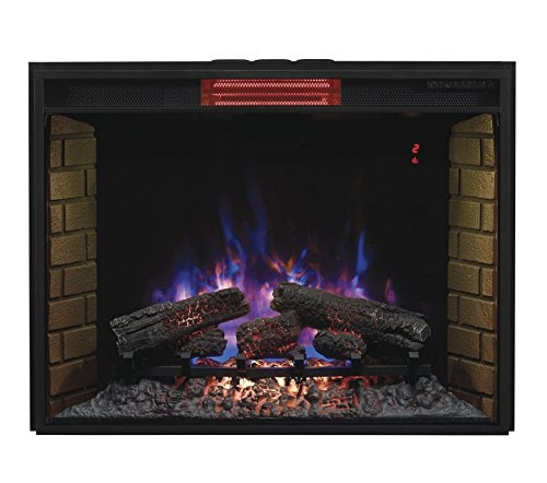 Best electric fireplace insert reviews -Classic Flame 33II310GRA Infrared SpectraFire Plus Insert -33 Inch