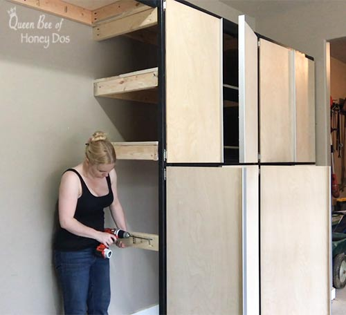 converting shelves into cabinets
