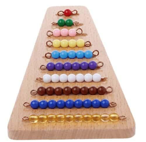 Perles Escalier Colorées Matériel,Mathématiques Éducatifs pour Enfants Montessori