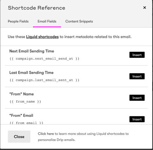 Example of Email Marketing Personalization via Shortcodes