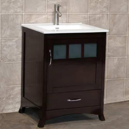 """24"""" Bathroom Vanity Cabinet Ceramic Top Sink"""