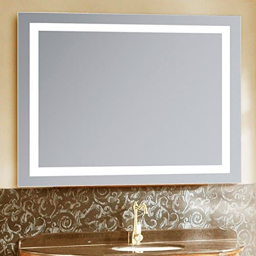 LED Lighted 18 X 30 Wall Mount Vanity Bathroom Mirror with Defogger