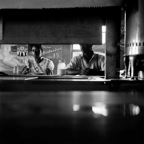 Restaurant Segregation, Mississippi - Photo by Dorothea Lange. Printed by Seth Dickerman