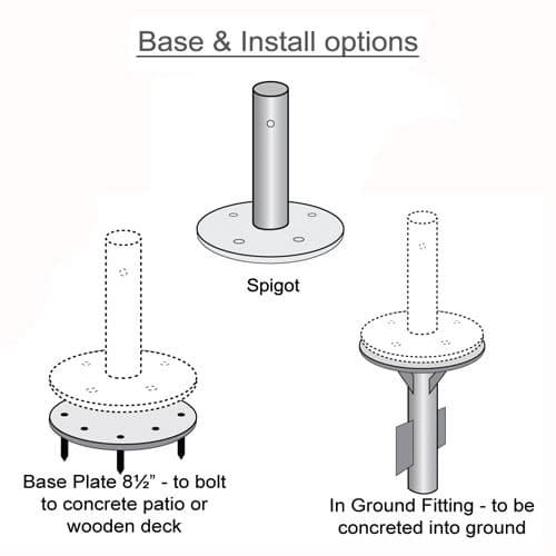 Base and Install Diagram - Three Part