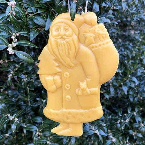 santa beeswax Christmas ornament