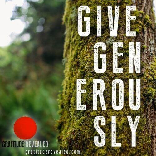 Gratitude Revealed Generosity