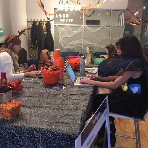 Greta Rose Agency plays at theSkimm HQ on Halloween