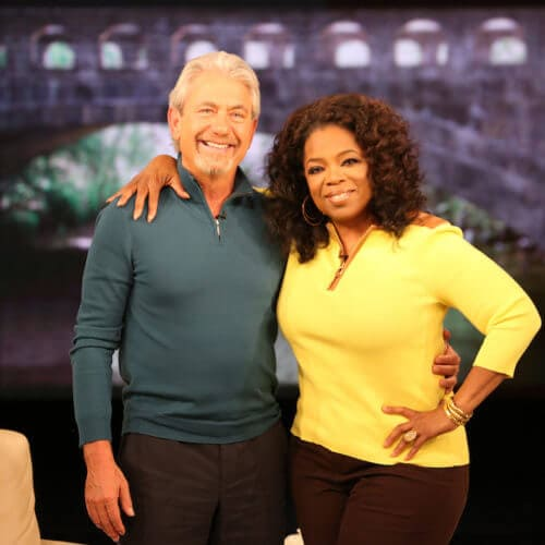 Oprah Winfrey and Louie Schwartzberg