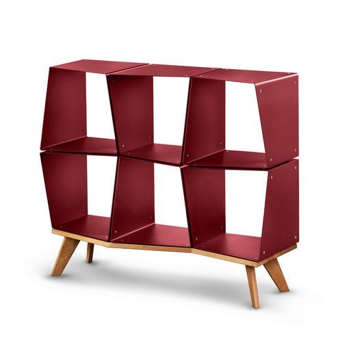 Kleines Regal rot Sideboard