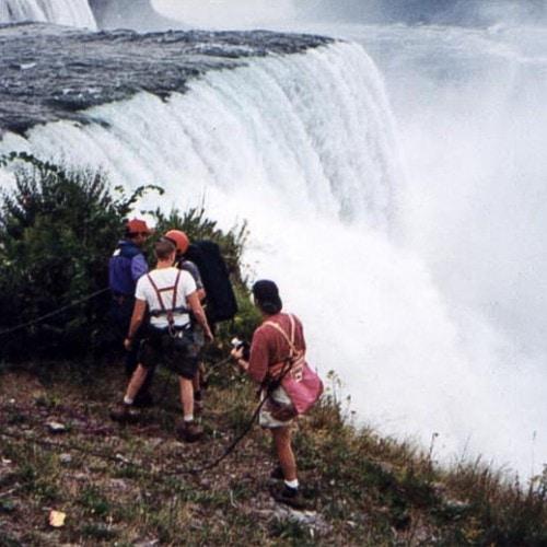 FIlming over Niagara Falls