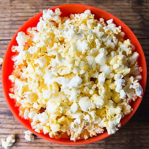 Microwaveable Bowl with Popcorn