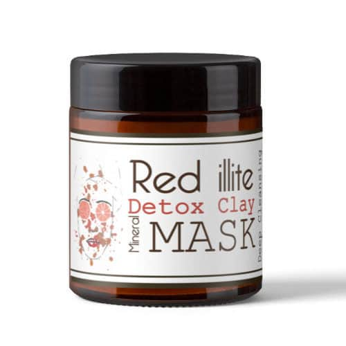 red ilite detox mask - rode kleimasker