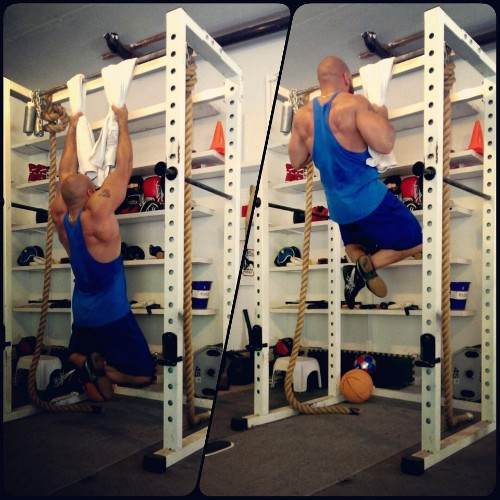 Towel Pull Hang Easy Exercises For Forearm