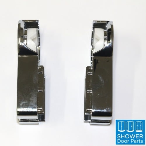 Swing bath door hinge pair-chrome ShowerDoorParts