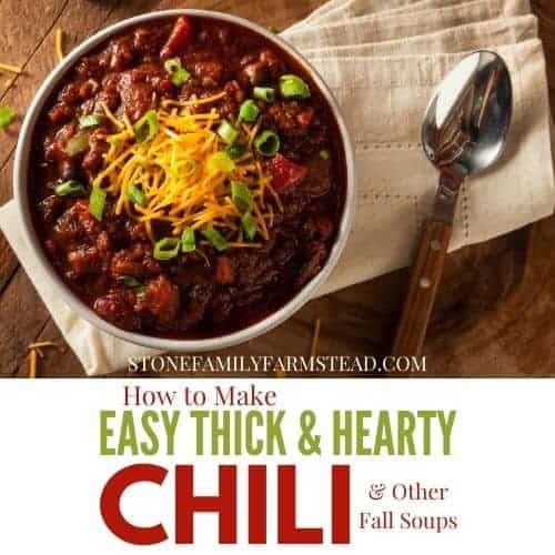 bowl of chili at a place setting