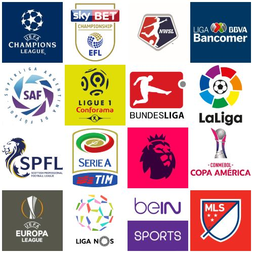Channels broadcasting soccer leagues