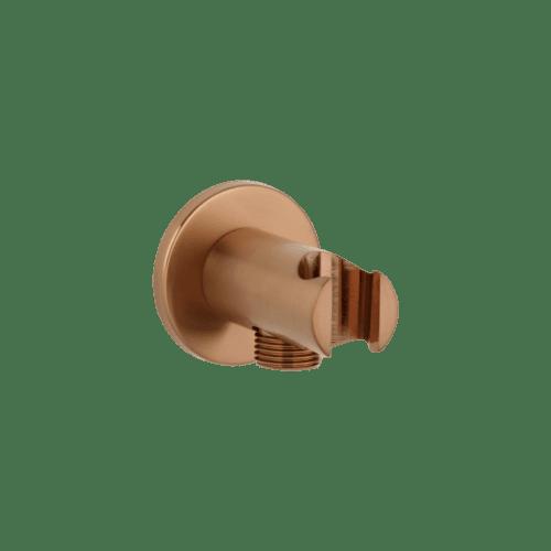 Mila Hand Shower Holder & BP - Brushed Copper
