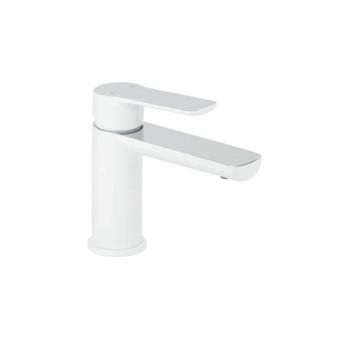 Alano Basin Mixer - White and Chrome
