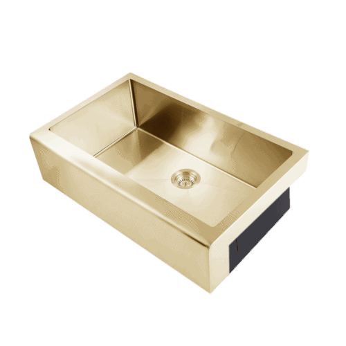 brass kitchen sink