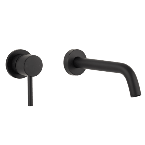 Elysian Minimal Mixer & Spout Set - Matte Black