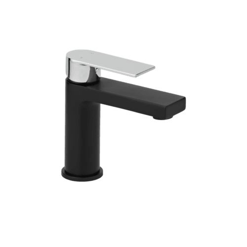 Magnus Basin Mixer - Matte Black and Chrome