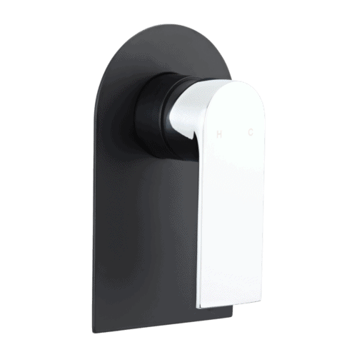 Magnus matte black shower taps