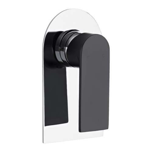 MAGNUS SHOWER MIXER – MATTE BLACK HANDLE AND CHROME BACK PLATE