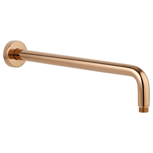Phili Shower Arm 400mm - Deep Rose Gold