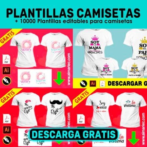 Plantillas para sublimar camisetas descargar gratis