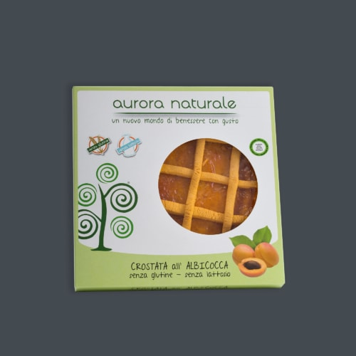 Crostata albicocca senza glutine e senza lattosio aurora Naturale