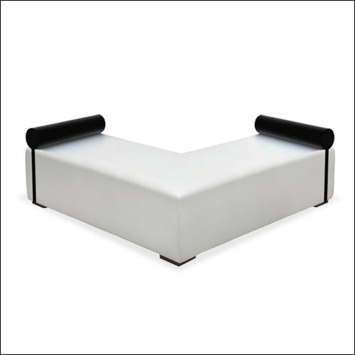 """Mod """"L"""" Ottoman White with bolsters"""