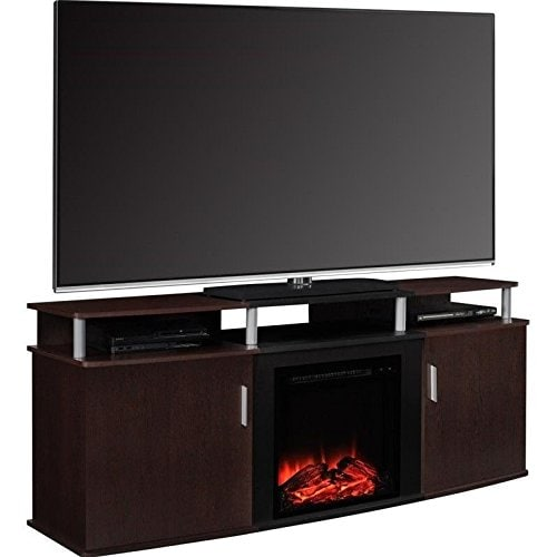 best electric fireplace tv stand Reviews-Altra Furniture Carson Fireplace TV Console
