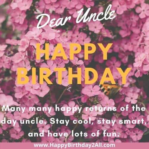 Dear uncle Happy Birthday