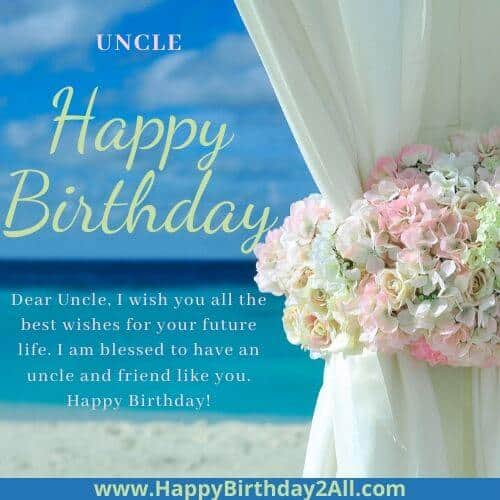 Happy Birthday dear uncle