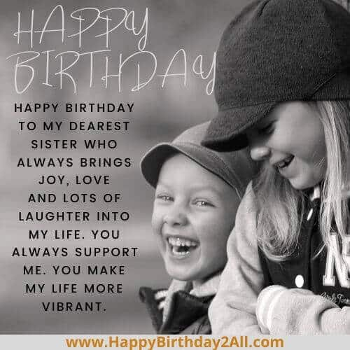 Happy Birthday Wishes For Sister Sis Quotes Greetings