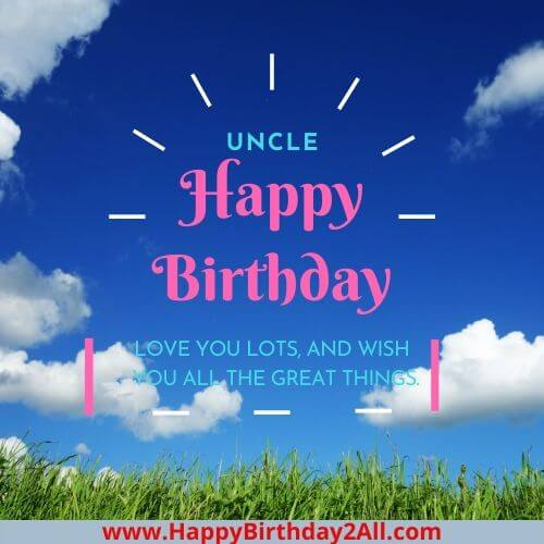 happy Birthday wish for uncle