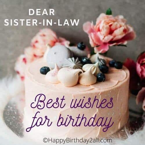 Best wishes for birthday of sister in law