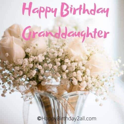 Happy Birthday dear Granddaughter